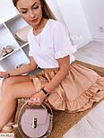 Костюм женский летний с юбкой и футболкой Оверсайз, фото 5