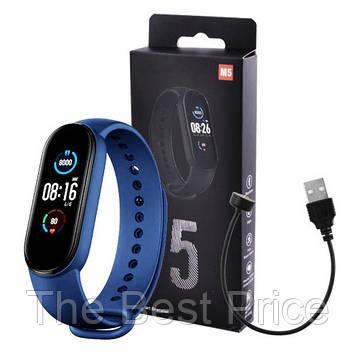Фітнес браслет Smart Watch M5 Band Classic Black смарт годинник-трекер. Колір синій