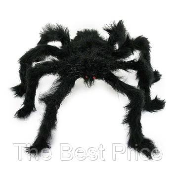 Паук из меха 60см (черный)