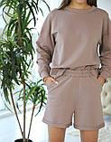 Костюм с шортами и кофтой, трикотаж, фото 2