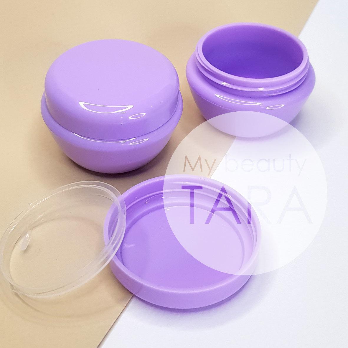 Баночка 20 мл пластиковая Тиффани, фиолетовая
