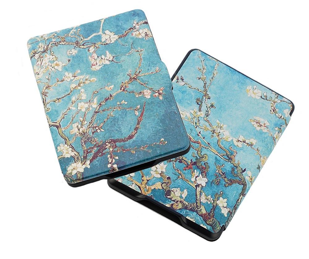 Amazon Kindle Paperwhite 1/2/3 чехол Almond Blossoms - спереди и сзади