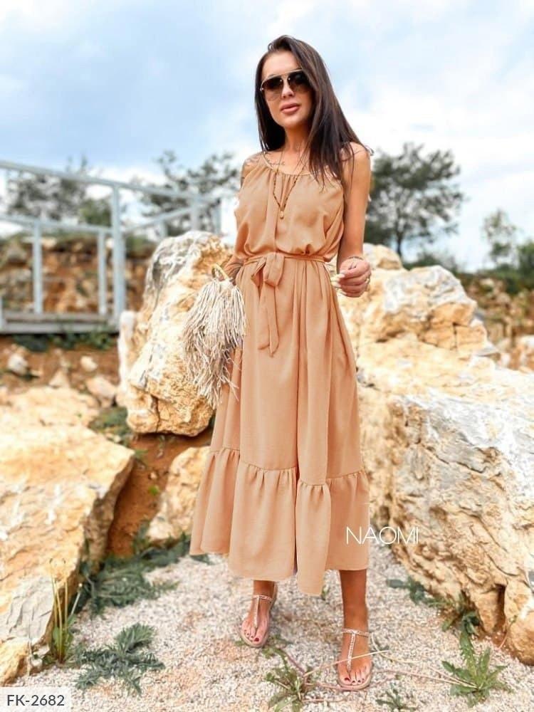 Женское длинное платье софт