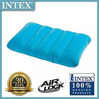 Надувная подушка для плавания и сна Intex  (Голубая) 43х28х9 см