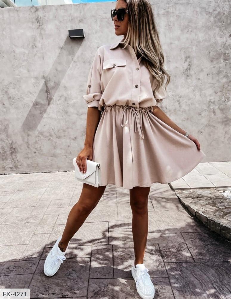 Женское платье с кулиской на талии