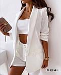 Жіночий костюм, костюмка класу люкс, р-р 42-44; 44-46 (білий), фото 2