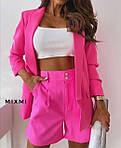 Женский костюм, костюмка класса люкс, р-р 42-44; 44-46 (малиновый), фото 2