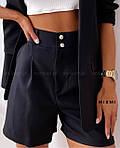 Женский костюм, костюмка класса люкс, р-р 42-44; 44-46 (чёрный), фото 2