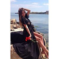 Женская Длинная Шифоновая Пляжная Туника-Накидка, фото 1