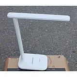 Настольная лампа UKC светодиодная аккумуляторная с регулировкой яркости USB 36LED Белая (SD-835), фото 3