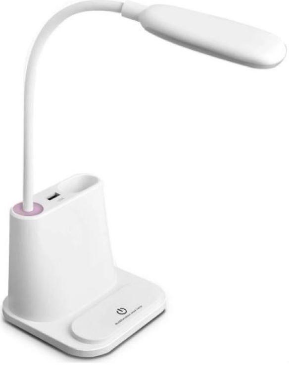 Лампа настольная светодиодная GB LED D-3198 с функцией Power Bank Белая