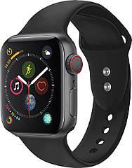 Силиконовый ремешок Promate Oryx-42ML для Apple Watch 42-44 мм Black