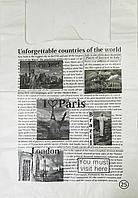 Пакет полиэтиленовый Майка Газета 45х68 см / уп-25шт