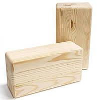 Кирпичик блок для йоги Кедр Сибирский деревянный