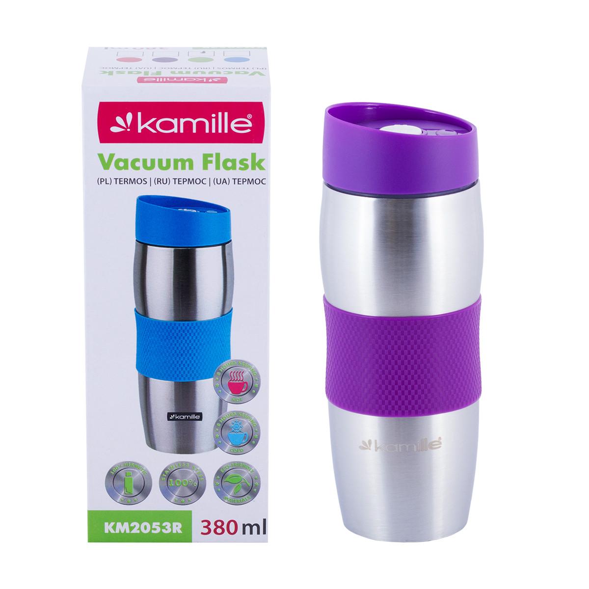 Термокружка Kamille Фиолетовый 380мл из нержавеющей стали KM-2053FL
