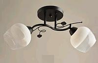Люстра потолочная на два плафона диаметром 14см SH-4636/2 BK