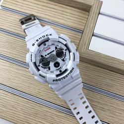 Спортивні годинник Casio GA-200 Білі Чоловічі Касіо га Джі Шок наручні Електронні на руку Кварцові СПОРТ