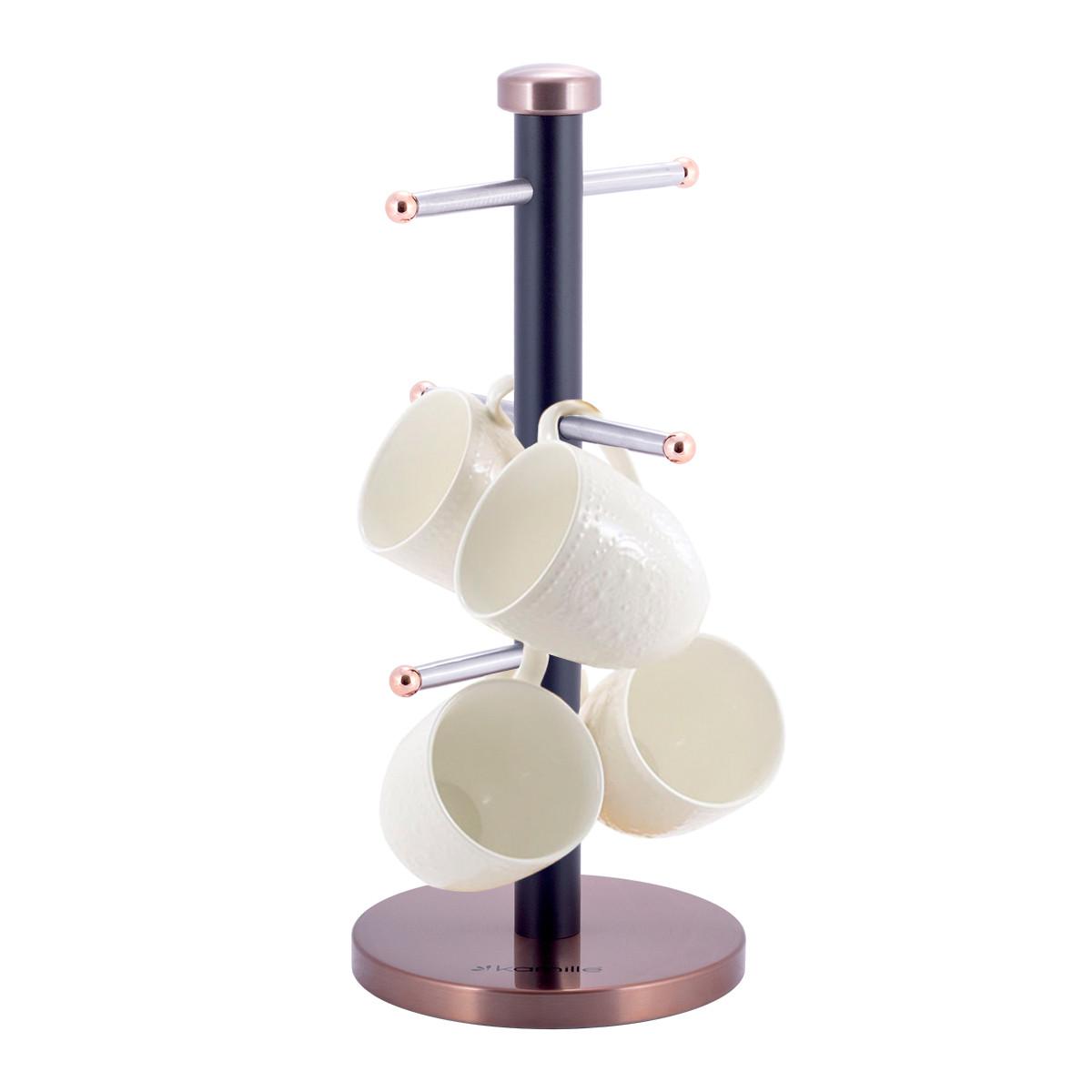 Стойка подставка для чашек Ø15*34,5см из нержавеющей стали KM-0183A