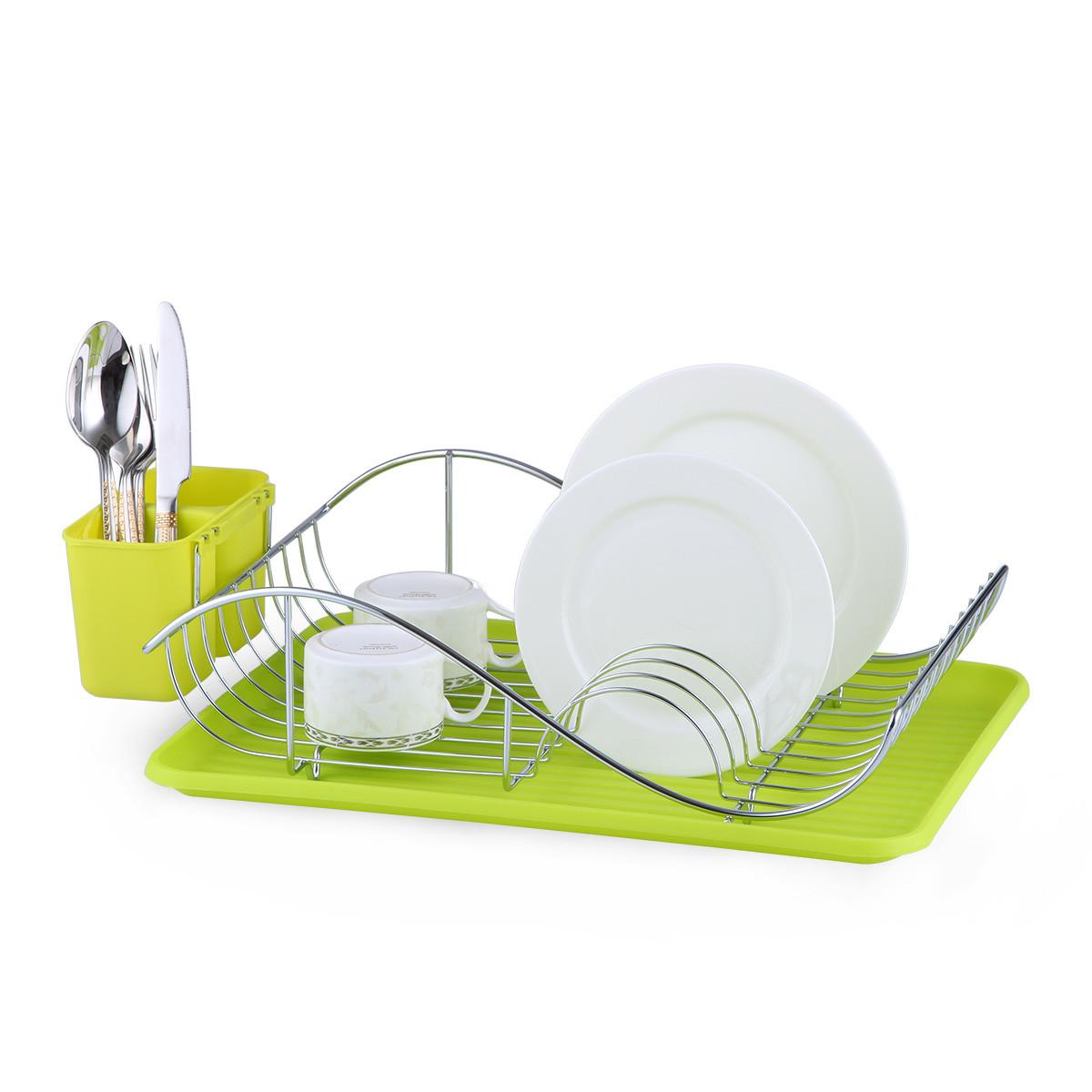 Сушарка для посуду Kamille 52*32*13см з піддоном KM-0761A