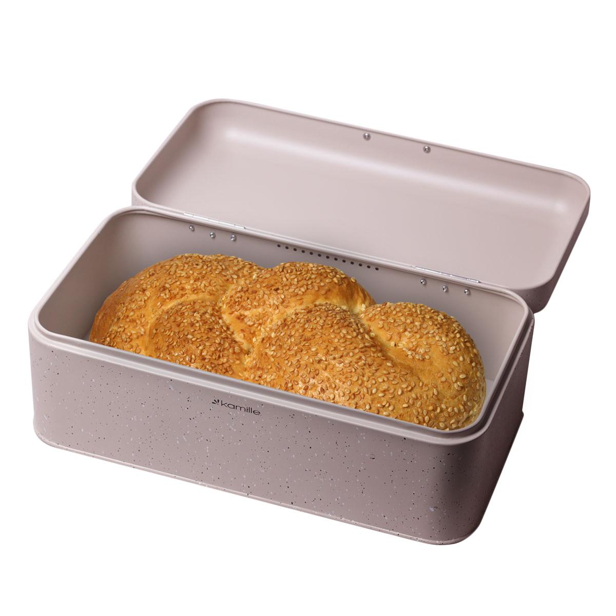 Хлебница Kamille 42*23.5*16.5см из нержавеющей стали  KM-1108