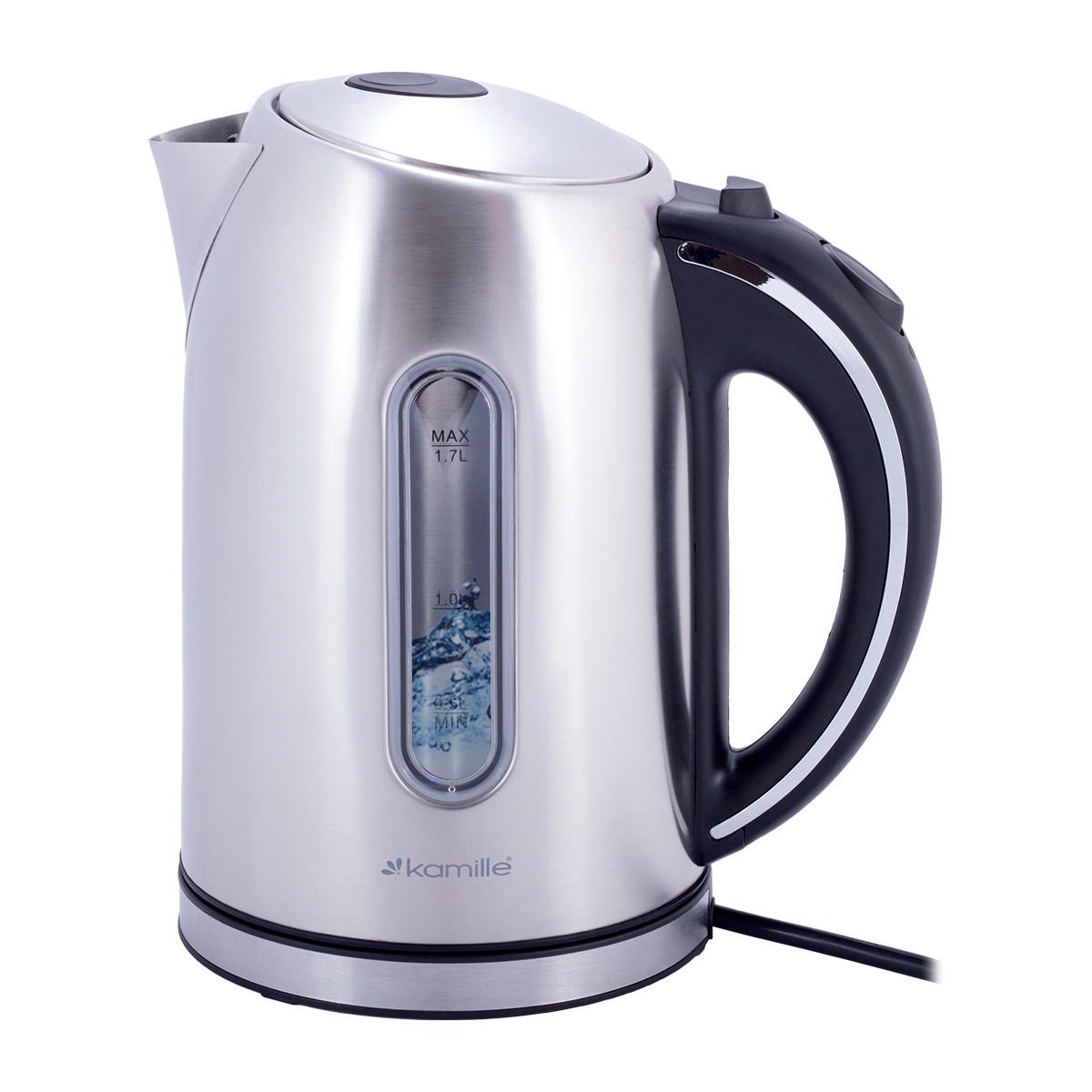 Чайник 1,7 л електричний Kamille з нержавіючої сталі