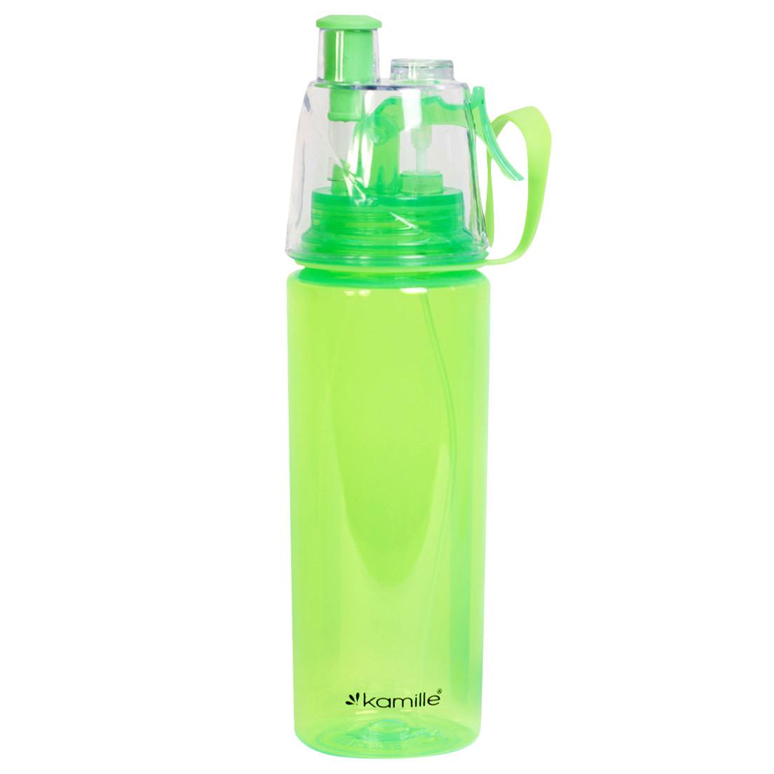 Бутылка спортивная для воды Kamille Зеленый 570мл из пластика KM-2301ZL
