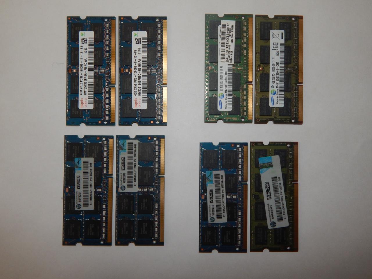 Оперативная память  DDR3 4GB DDR3(DDR3L) 12800S(10600) для ноутбука.