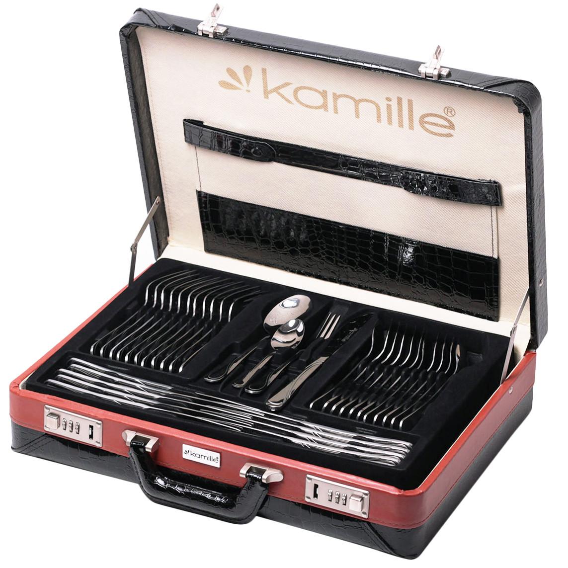 Набір столових приладів Kamille 72 предмети з нержавіючої сталі в кейсі
