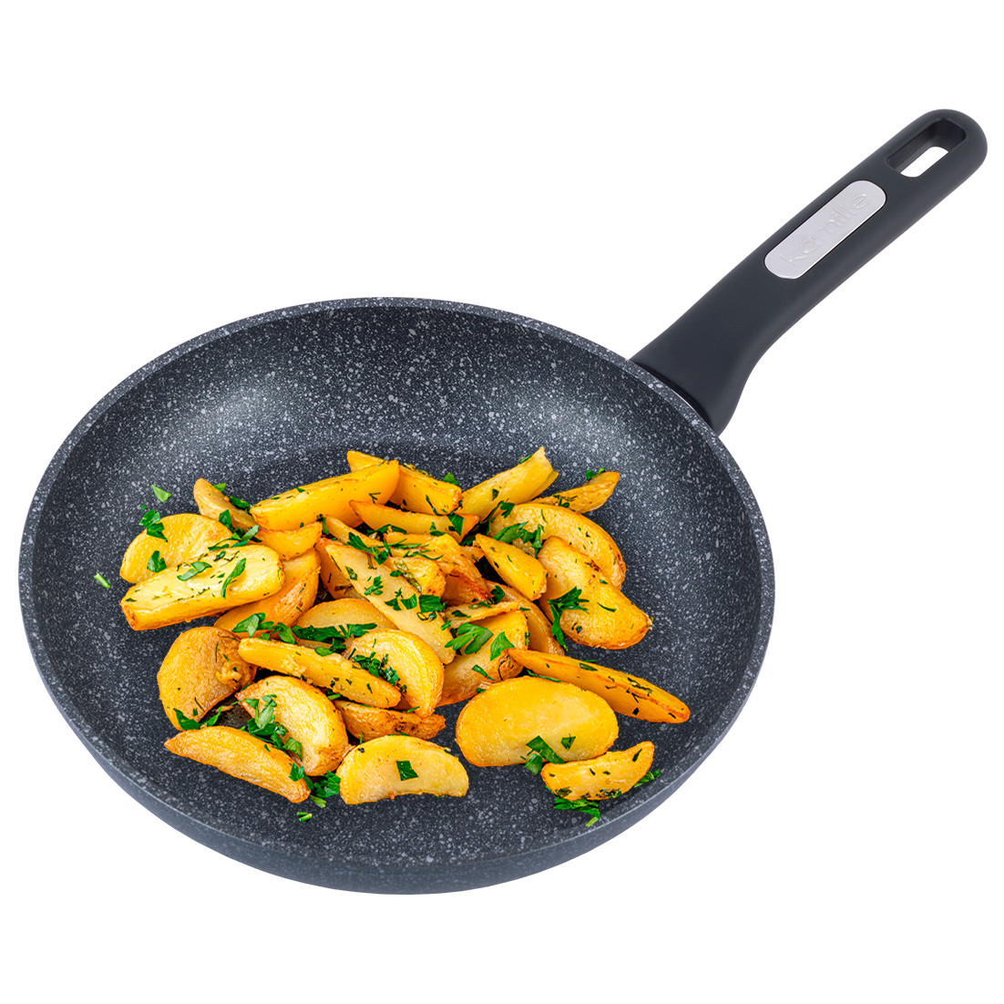 Сковорода Kamille 26см з покриттям чорний мармур для індукції