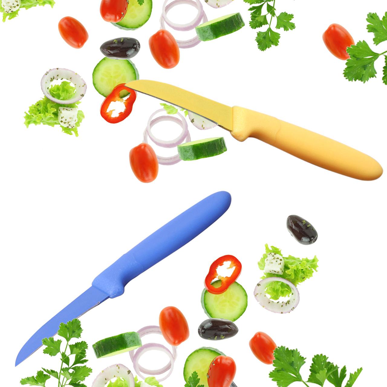 """Ніж кухонний Kamille для чищення овочів з покриттям """"non-stick"""""""