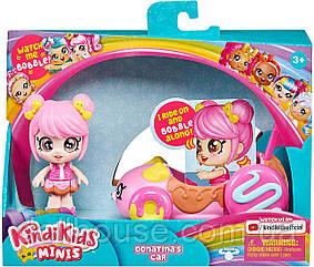 Kindi Kids Minis Кінді кидс Автомобіль пончик і міні лялька Донатина Donatinas Car Collectible Vehicle