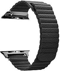 Ремешок из эко-кожи Promate Lavish-38 для Apple Watch 38-40 мм Black