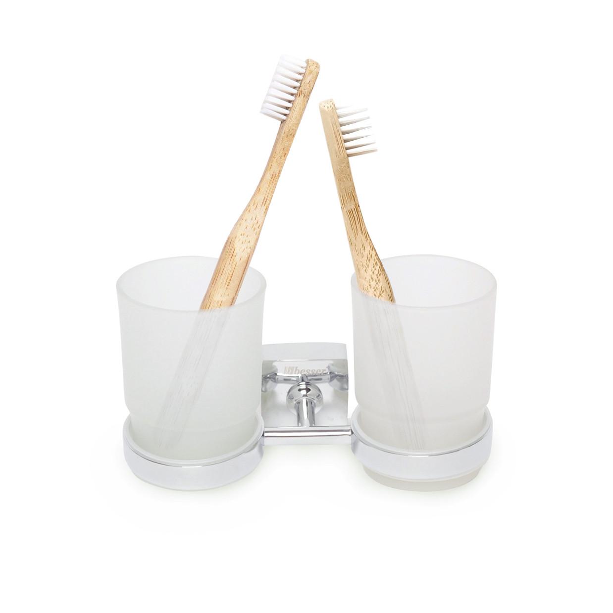 Стакан для зубних щіток Besser подвійний 17*8.5*9.5 см KM-8804