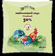 Майонезний соус Сімейний 50% Філ-пак 380 г ТМ Гуляй-поле
