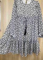 Подростковое шифоновое платье для девочки с валаном Цветы 10-13 лет, цвет уточняйте при заказе