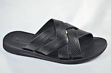 Мужские кожаные шлепанцы черные Bonis 1166935