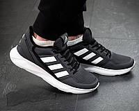 Чоловічі кросівки Adidas Сірі Сітка, Репліка, фото 1