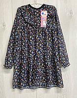 Шифонове плаття на трикотажній підкладці. 134 - 146 зростання.