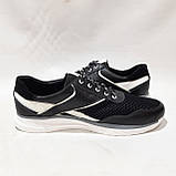 Летние мужские кроссовки (Больших размеров) в стиле Reebok Кожа+сетка черные 46,47,48,49,50, фото 5