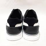 Летние мужские кроссовки (Больших размеров) в стиле Reebok Кожа+сетка черные 46,47,48,49,50, фото 7