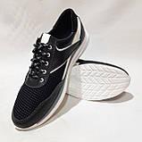 Летние мужские кроссовки (Больших размеров) в стиле Reebok Кожа+сетка черные 46,47,48,49,50, фото 3