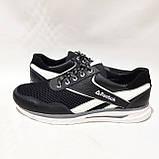 Летние мужские кроссовки (Больших размеров) в стиле Reebok Кожа+сетка черные 46,47,48,49,50, фото 6