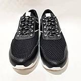 Летние мужские кроссовки (Больших размеров) в стиле Reebok Кожа+сетка черные 46,47,48,49,50, фото 2