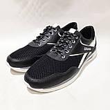 Летние мужские кроссовки (Больших размеров) в стиле Reebok Кожа+сетка черные 46,47,48,49,50, фото 4