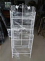 Этажерка высокая бежевая белая 47 см