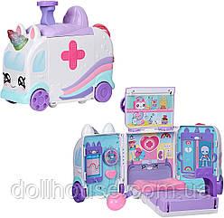 Ігровий набір Кінді Кидс Швидка допомога, лікарня Kindi Kids Hospital Corner - Unicorn Ambulance