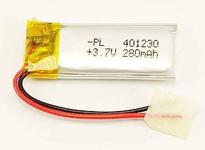 Аккумулятор литий-полимерный 401230 3,7V 280mAh (4*12*30мм)