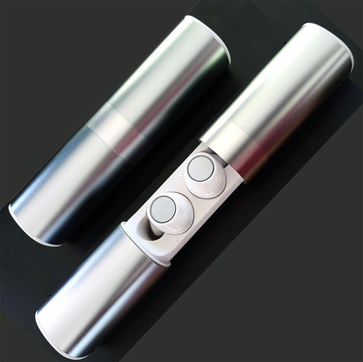 Наушники беспроводные и гаринтуры блютуз вакуумные Wi-pods S2 с зарядным чехлом Bluetooth 5.0. Белые