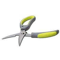 Ножиці Kamille кухонні 23см з нержавіючої сталі з пластиковими ручками KM-5184