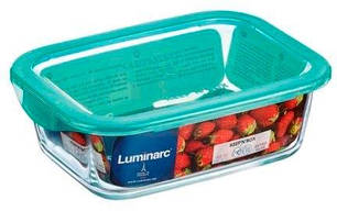 Контейнер для еды с голубой крышкой Luminarc KEEP'N P5516 1970 мл, фото 2